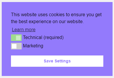 Cookie Consent - one button